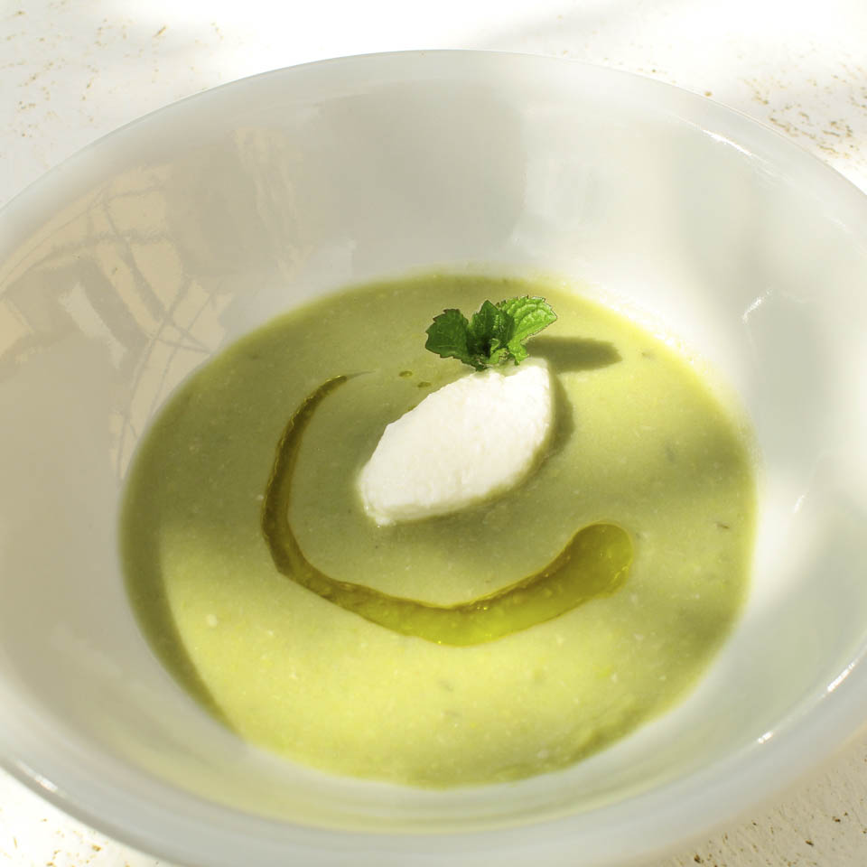 Image of Fava and pea soup