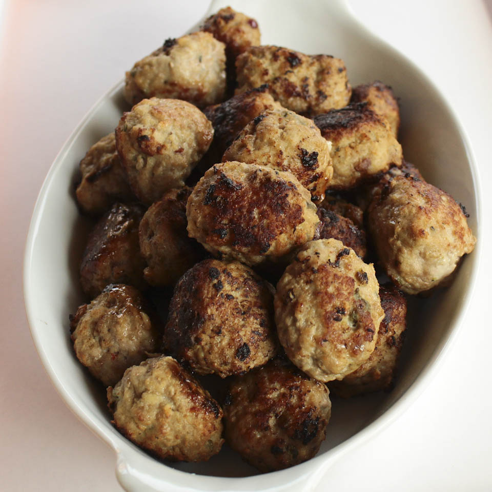 Meatballs with cranberries and capers
