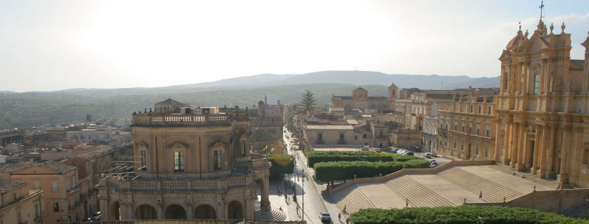 Noto from the top of a belltower
