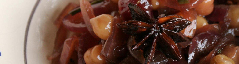 Italian antipasti of spiced chickpeas