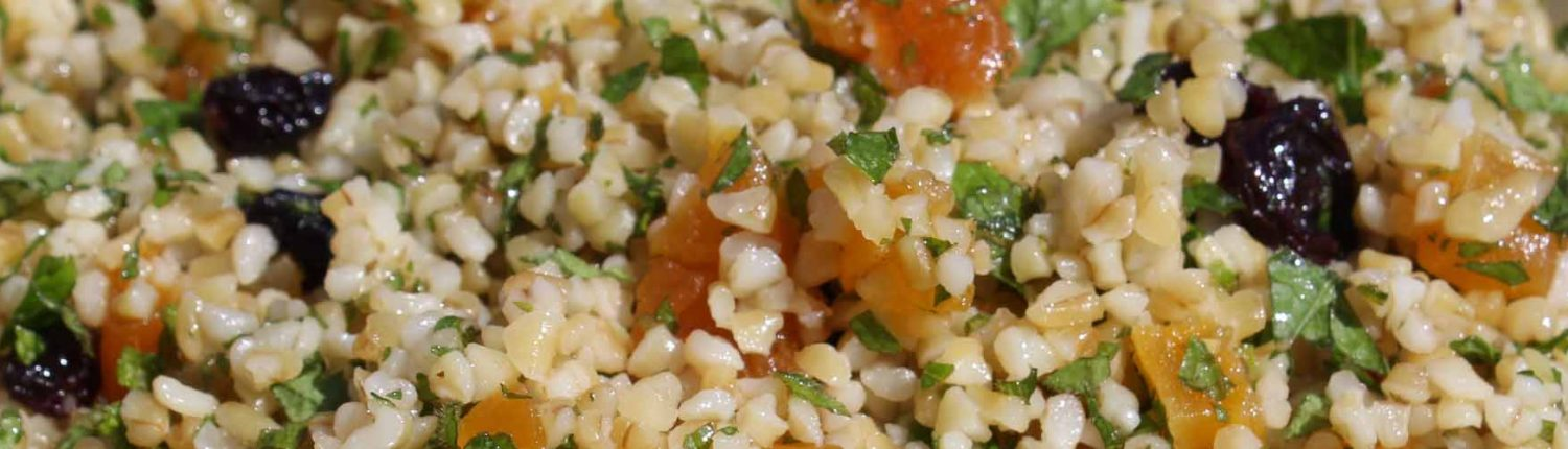 Bulgur salad for primo piatto