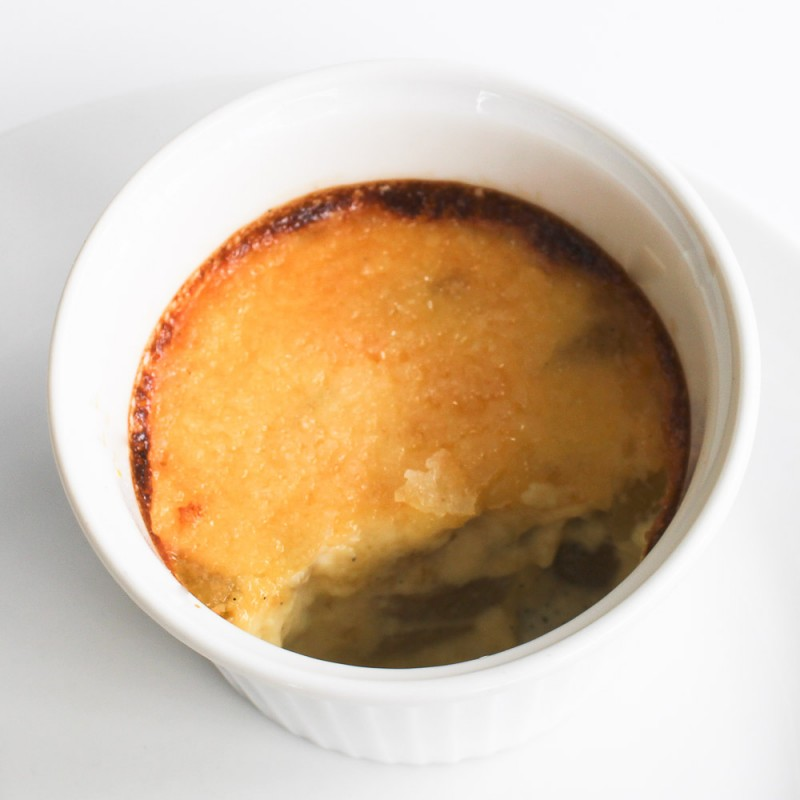 Creme Brulee with Pears