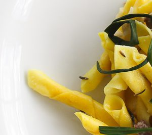 Garganelli pasta with agretti