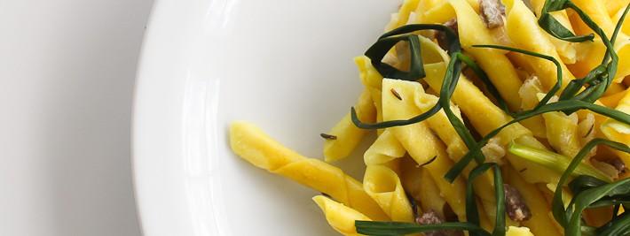 Garganelli pasta with agretti