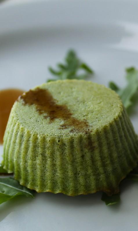 Green pea custard