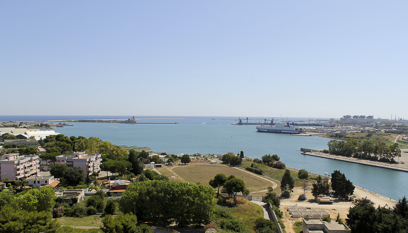 View from the Italian Sailor Monument in Brindisi