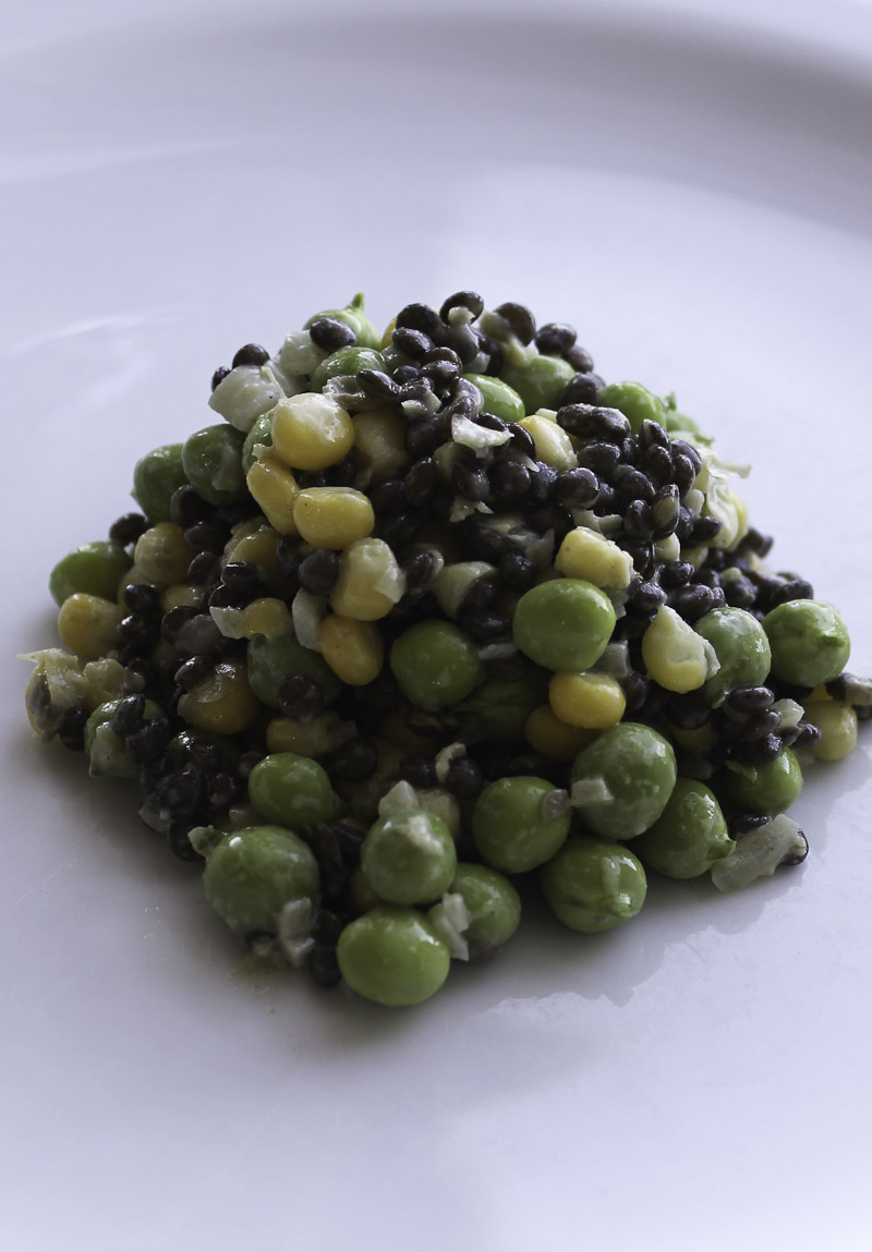 Salad with Lentils, Peas and Maize