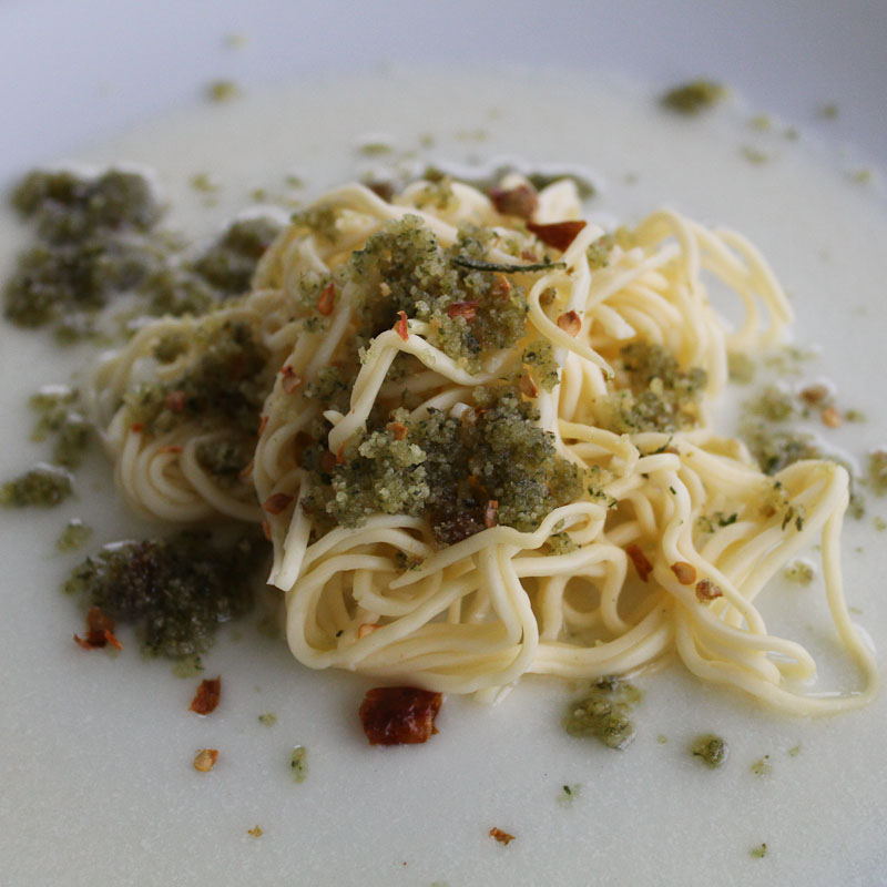 Spaghetti with Garlic, Olive Oil and Chili