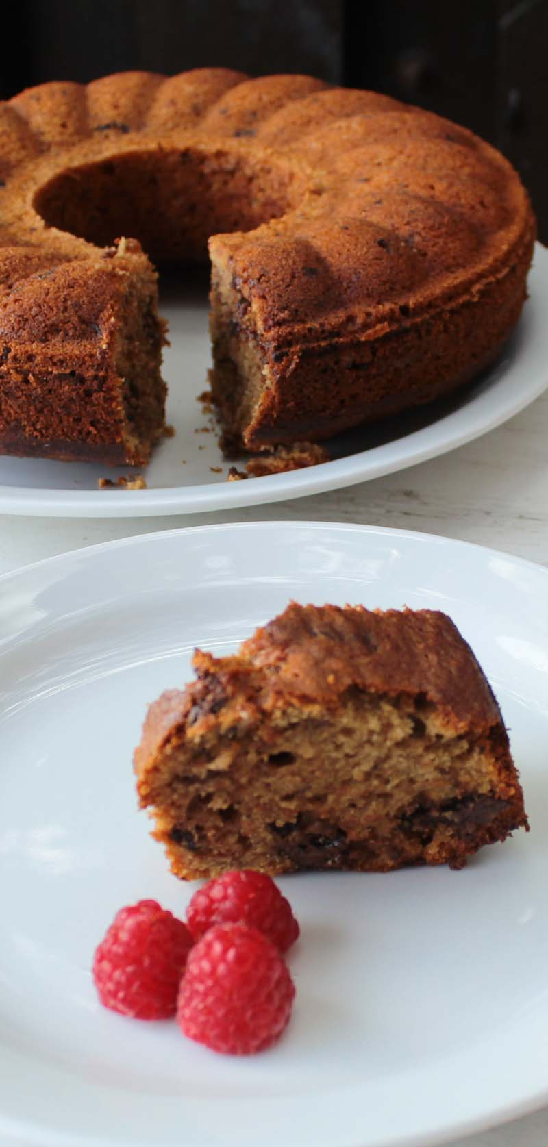 Serve banana cake with coffee, chocolate and walnuts as part of the ...