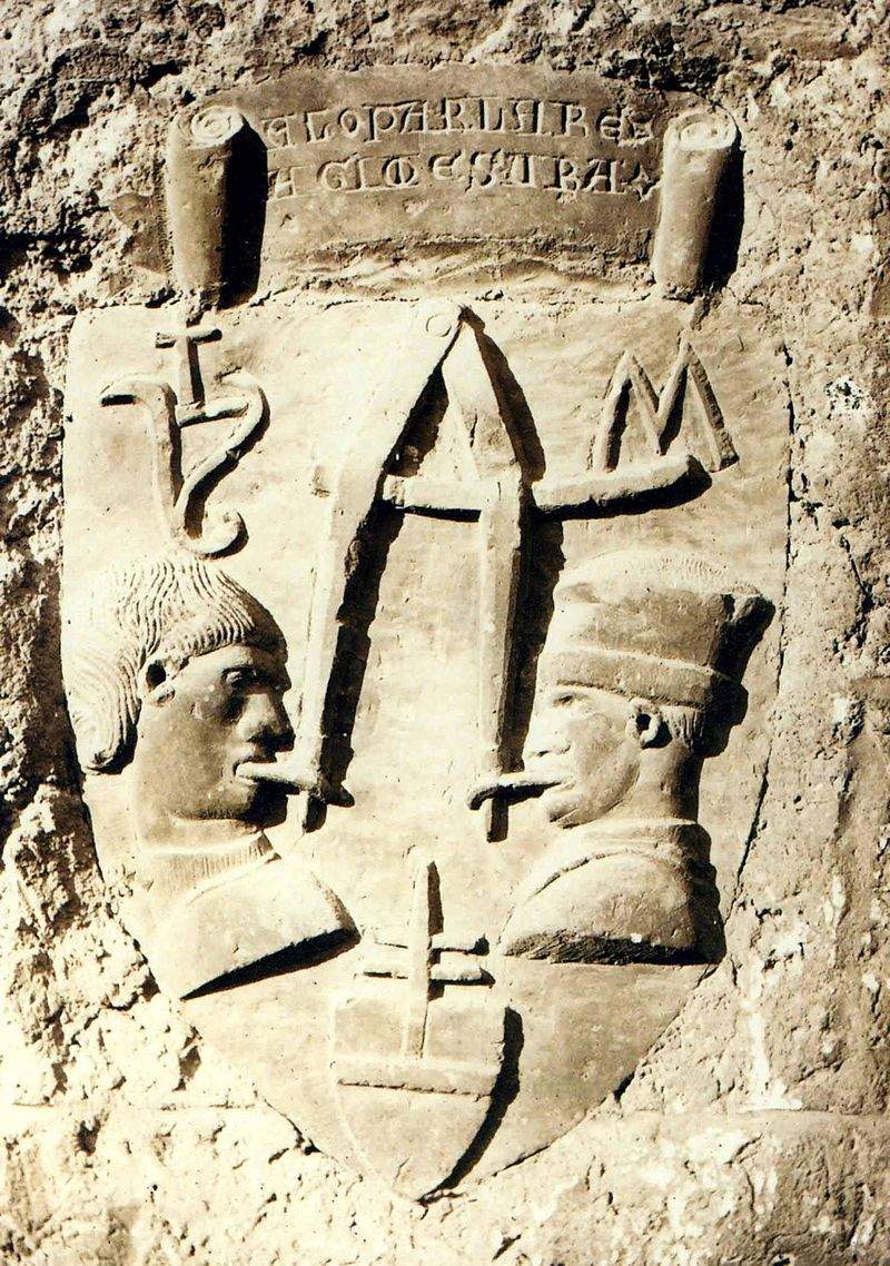Image of the tombstone of the evil tongue from Teramo in Abruzzo