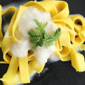 Photo of pasta with fennel cream