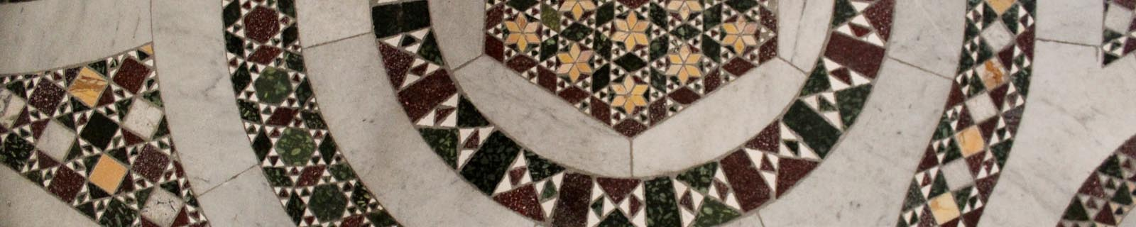 Photo of the cosmatesque pavement from the Cathedral of Anagni