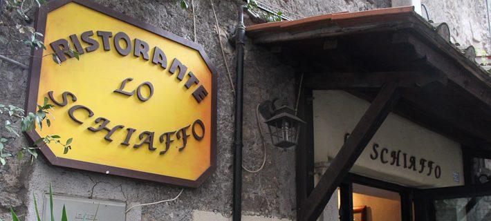 Entrance to Lo Schiaffo Restaurant in Anagni