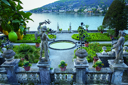 View over the terraces on Isola Bella