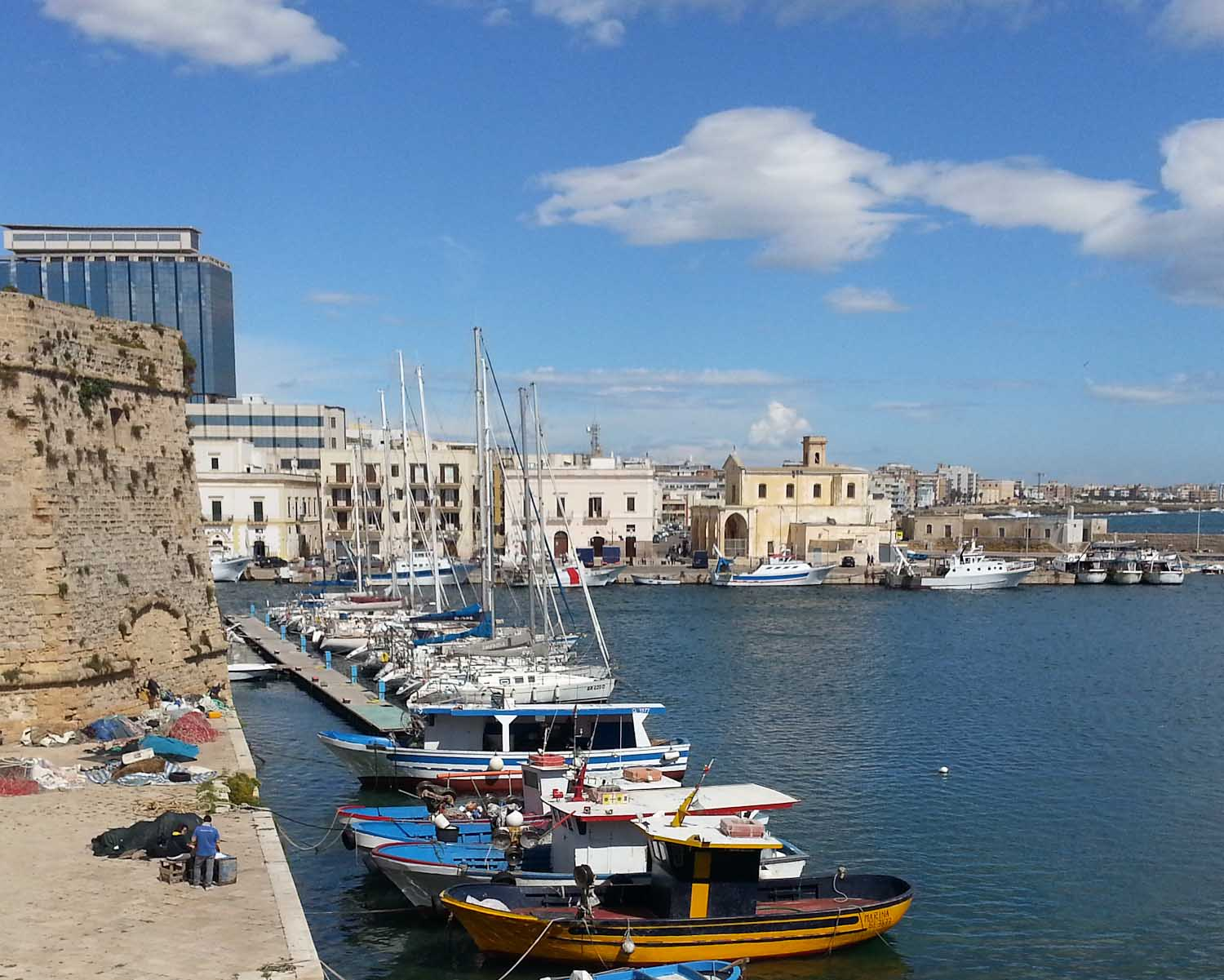 Fishing boats in Gallipoli, Puglia