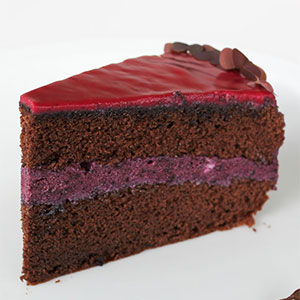 The most popular recipes 2016 - Blueberry chocolate cake