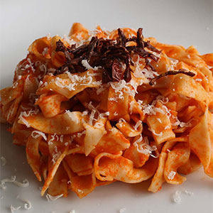 The most popular recipes 2016 - pasta with peppers from Senise