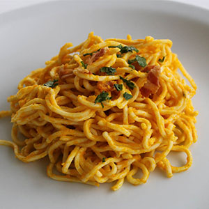 The most popular recipes 2016 - Pasta with pumpkin