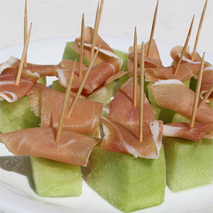 The most popular recipes 2016 - cured ham and melon