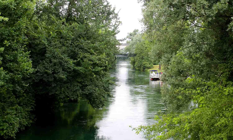Noncello river in Pordenone
