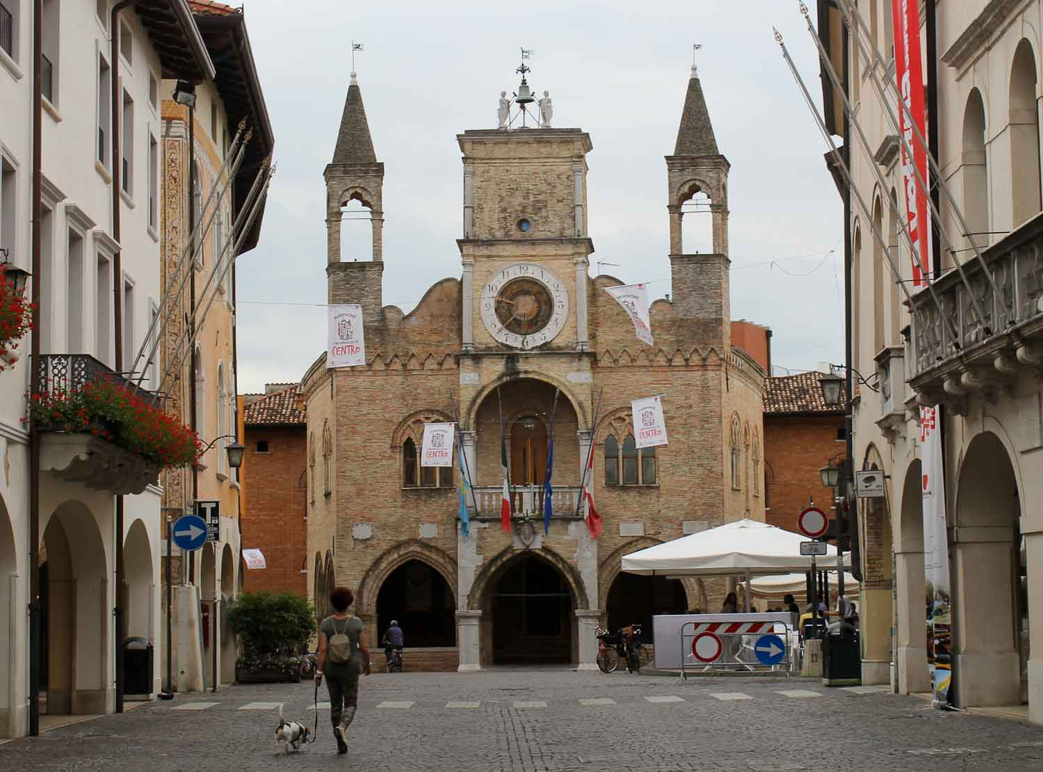 The Medieval town hall in Pordenone