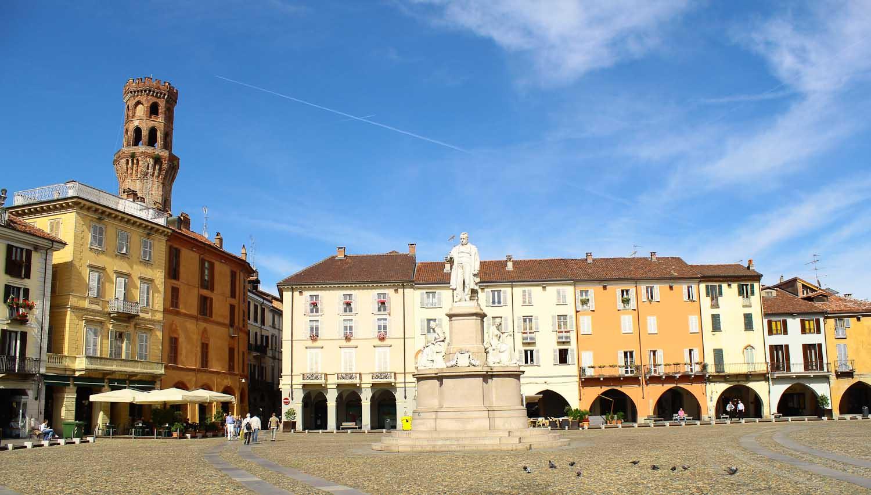 Piazza Cavour in Vercelli