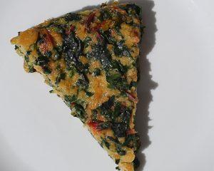 Erbazzone bread omelette