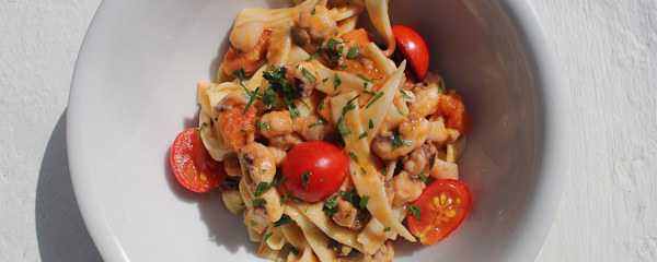 Pasta with seafood - Italian Notes