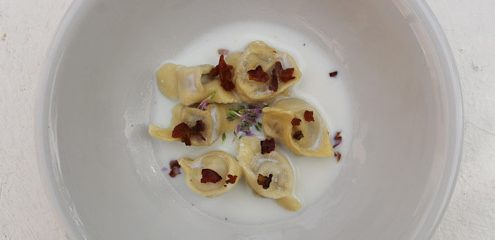 Tortellini in Parmesan Cream - Italian Notes