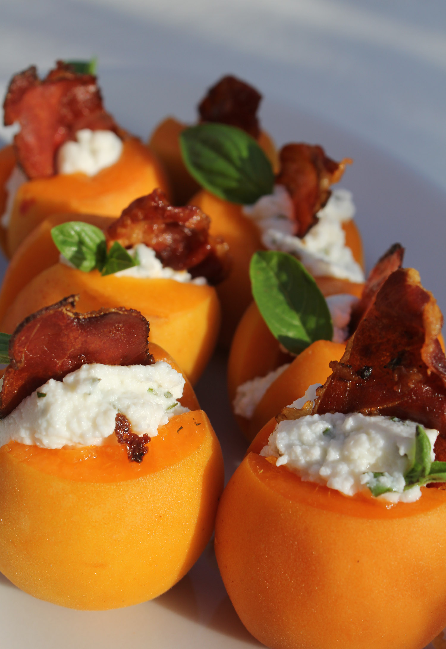 apricots with ricotta and speck - Italian Notes