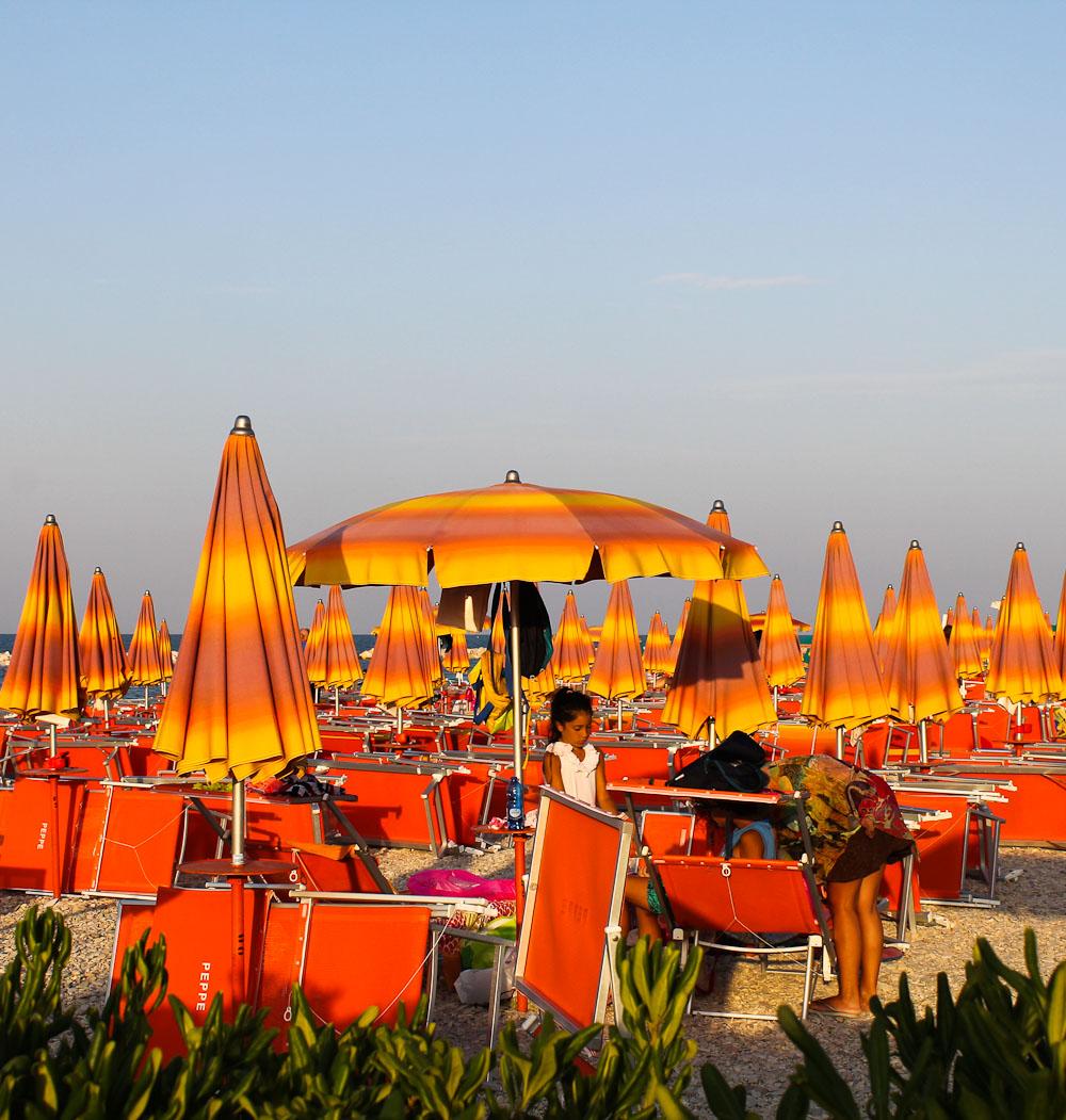 The beach Fano in Le Marche -Italian Notes