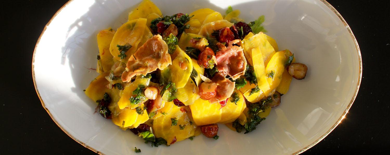 Yellow Beets Kale Salad - Italian Notes