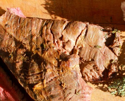 Marinated grilled flank steak - Italian Notes