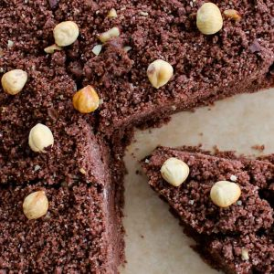 Nutella Chocolate Crumble Cake - Italian Notes