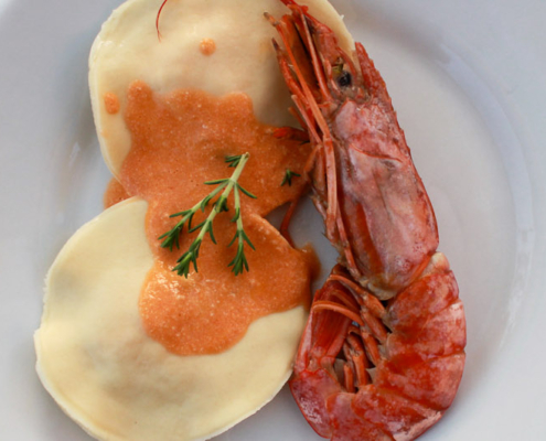 Crayfish ravioli - Italian Notes