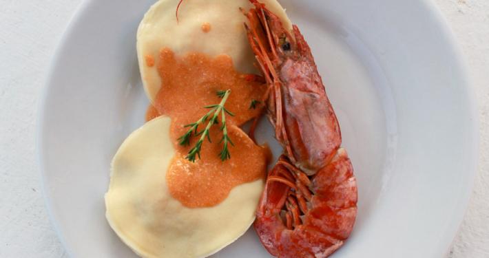 Crayfish ravioli - Italian Notes
