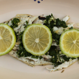 Marinated sea bass - Italian Notes