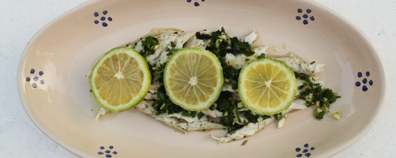 Marinated sea bass - Italian Notes