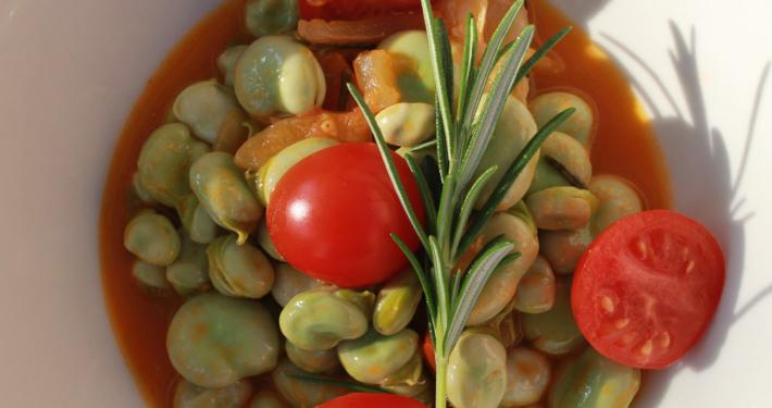 Tuscan fava bean ragu - Italian Notes