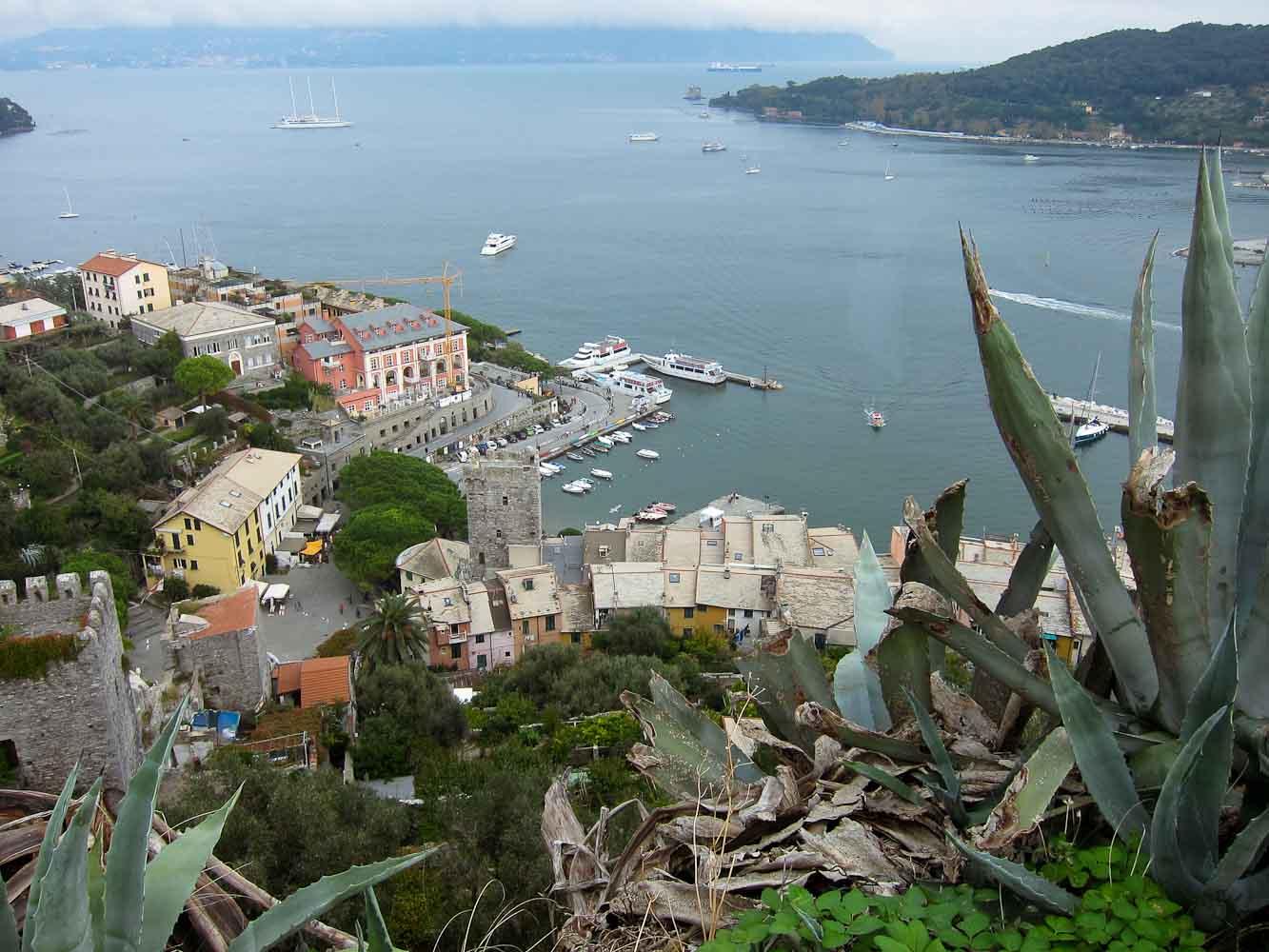 View from Castello Doria Porto Venere - Italian Notes