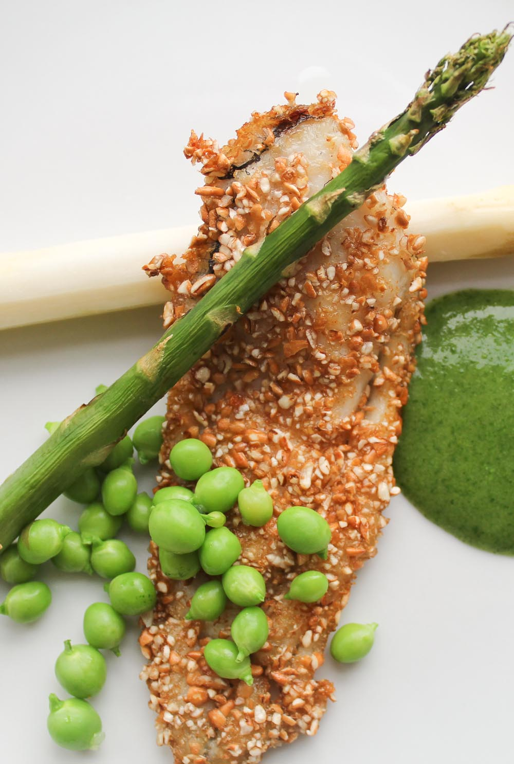 almond crusted plaice - Italian Notes
