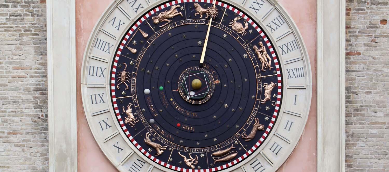 Astronomical clock in Macerata - Italian Notes
