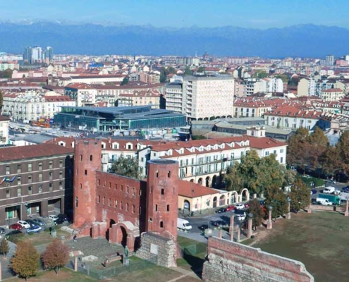 The Palatine Gate in Turin