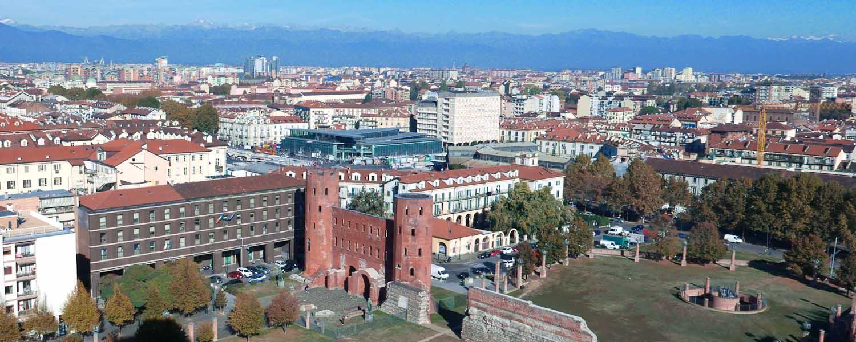 The Palatine Gate in Turin