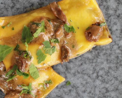 Ravioli with porcini mushroom sauce - Italian Notes