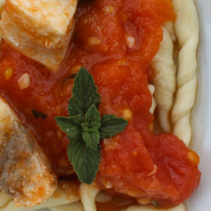 Trofie with swordfish - Italian Notes