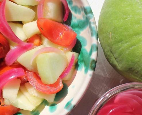 Caroselli and tomato salad - Italian Notes