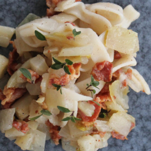 Pasta with endive and pancetta - Italian Notes