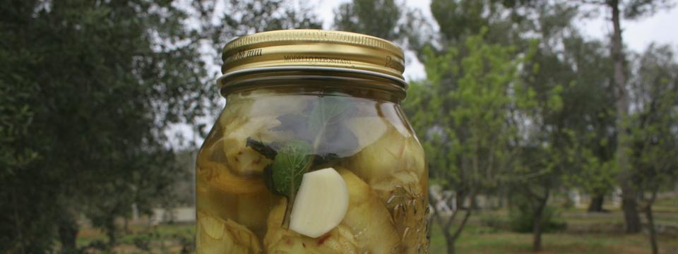 preserve artichokes